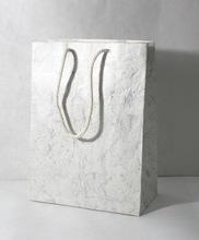 silver batik print marble bag