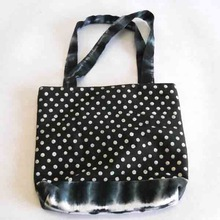 tie dyed canvas fabric bag