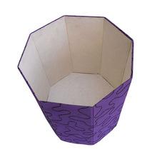 wax printed paper dustbin