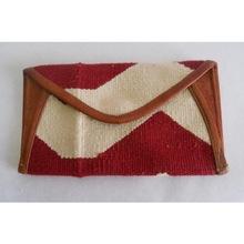 woven cotton kelim bag