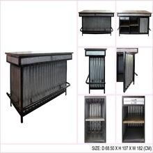 Iron Wooden Bar Counter