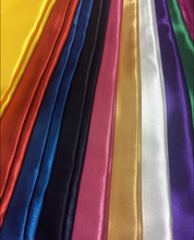 polyester colorful satin fabric