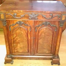 Antique Hand Carved Wooden Cabinet