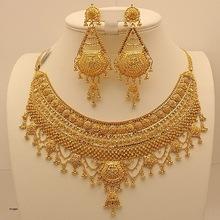 Gold Kundan Polki Bridal Pendant Set