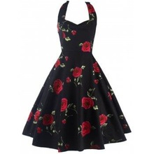 Gothic Halter Women Sun Dress