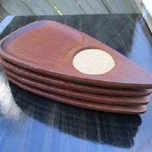 Hand Carved Wooden Cup Coaster