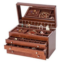 Hand Carved Wooden Jewellery Boxes