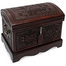 Hand Carved Wooden Jewelry Boxes