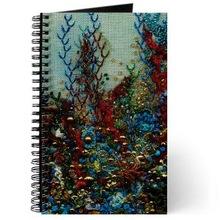 Handmade Paper Beaded Fabric Notebook