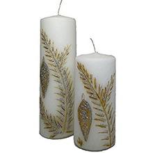Pillar Floral Handmade Candles