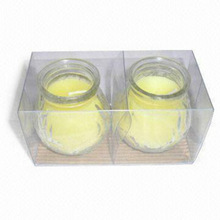 Scented Glass Jar Handmade Candles