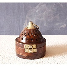 Wooden Incense Cone Burners