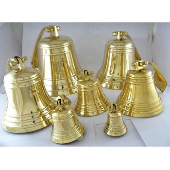 Gold christmas hanging bell