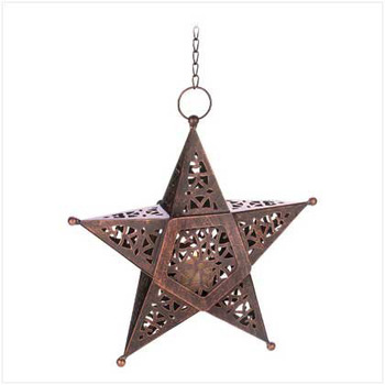 Hanging Star Lantern With Tea Light