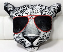 TIGER Face Cotton Velvet Cushion Cover