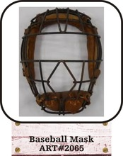 Leather Baseball Mask