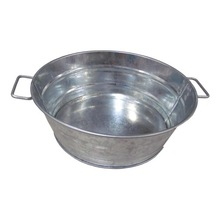 Personalized small stainless steel tub