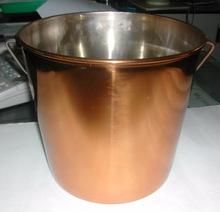 ss Copper Finish Pail bucket