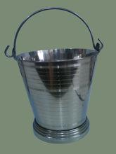 SS Round animal serving bucket