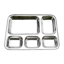 Stainless steel partition thali