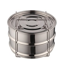 Stainless steel Two tier steamer set