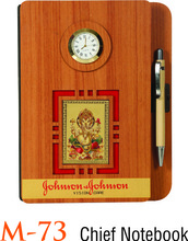 Coloured wooden diary