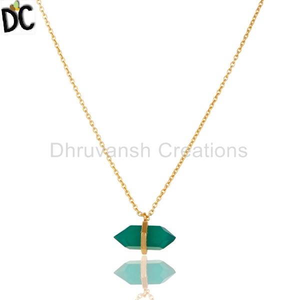 b07b57ae6 Natural Green Onyx Gemstone Pendant Manufacturer in Jaipur Rajasthan ...