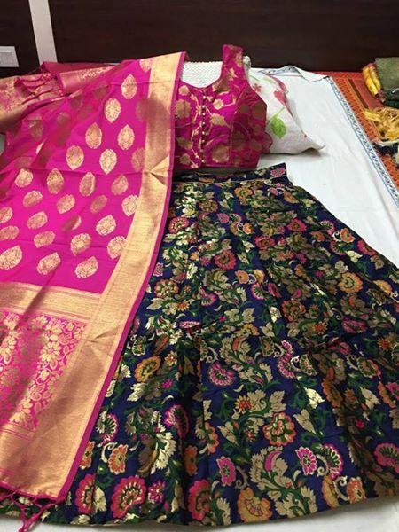 banarasi silk lehenga with banarasi dupatta
