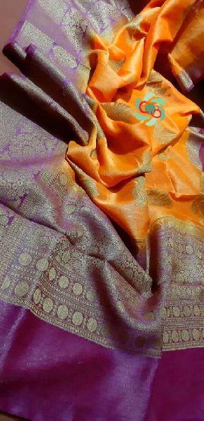 Banarasi Silk Linen Jamdani sarees