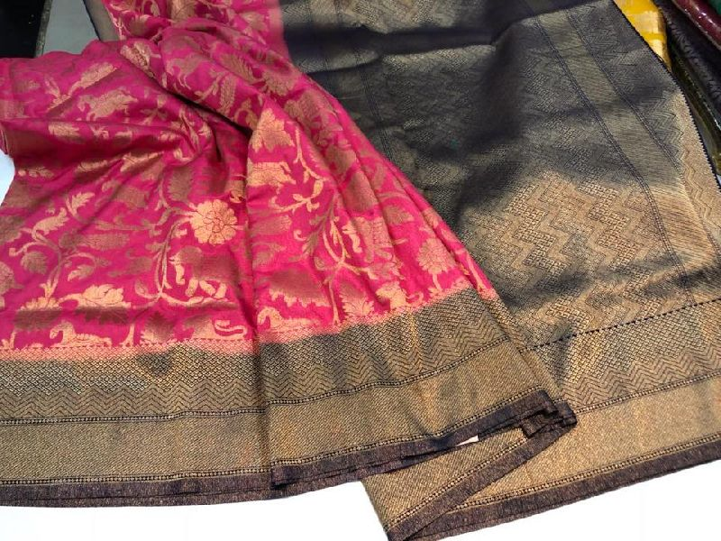 BANARASI SOFT SILK BROCADE SAREES WITH ZARI WEAVES