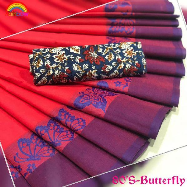 chettinadu pure cotton sarees with Kalamkari blouse