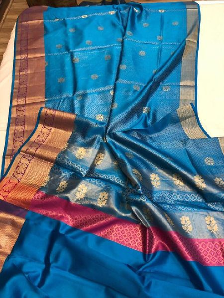 CHINIYA SILK SAREES WITH MATERIAL BLOUSE