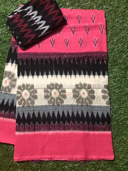 ikkat handloom mercerised cotton sarees