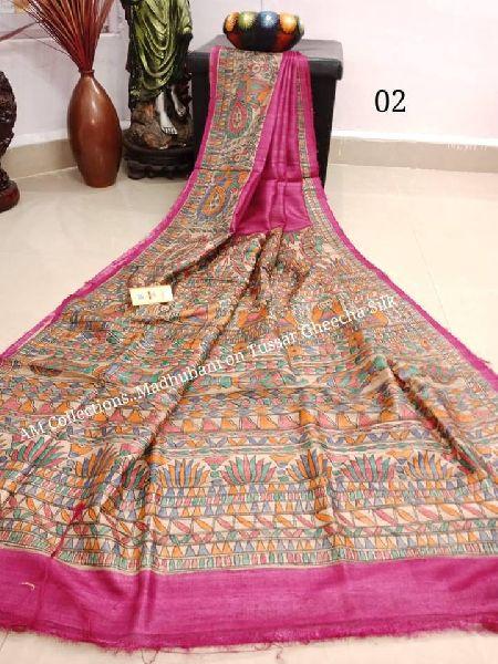 hand painted madhubani sarees