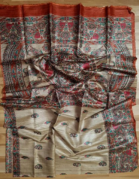 tussar gicha silk saree