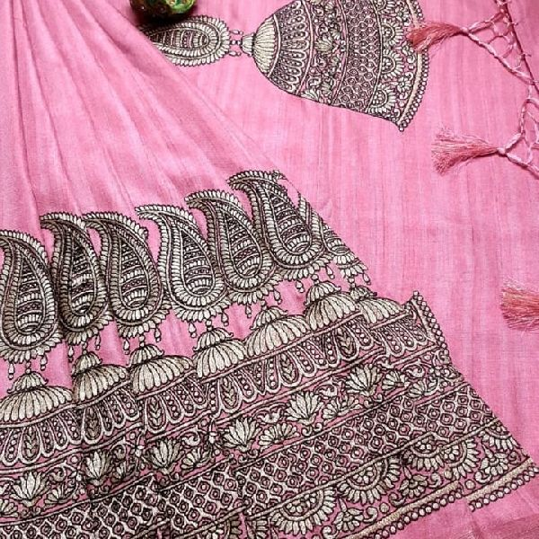 Mercerised linen soft silk sarees