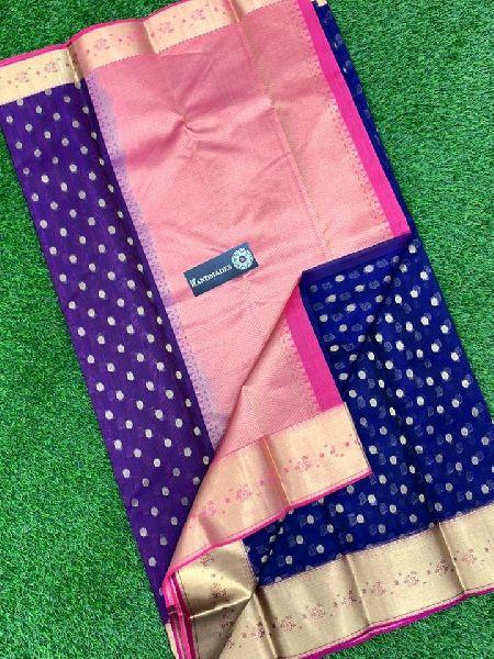 Pure Kanjeevaram Premium Kora by Kora Sarees with Allover Weaving Designs