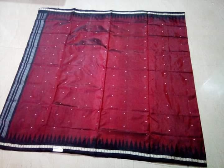 Sambalpuri Handloom Full Body Double Ikkat Silk Saree with temple borders