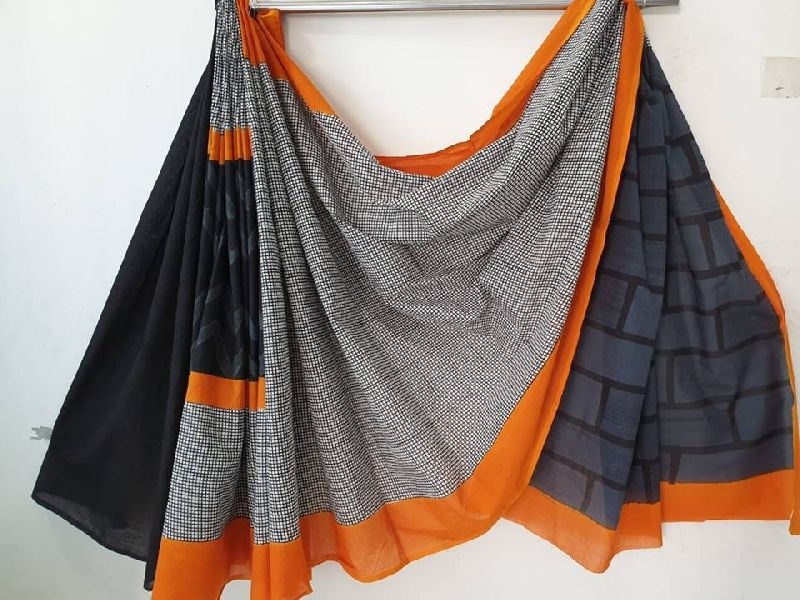 Soft Malmal cotton saree with blouse