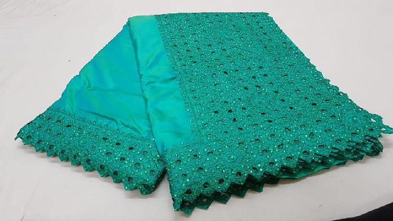 Soft sana silk sarees with cut work border & pallu