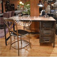 Metallic Wooden Study Table Chair