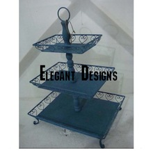 black coated cake stand