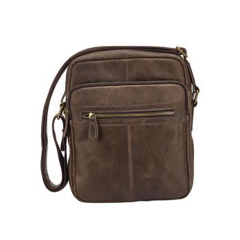 goat leather laptop messenger satchel briefcase bag