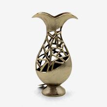 Antique Brass Plated Modern Flower Vase