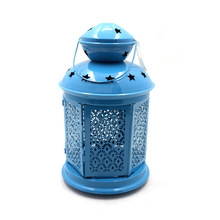 Blue Decorative Outdoor Candle Lantern