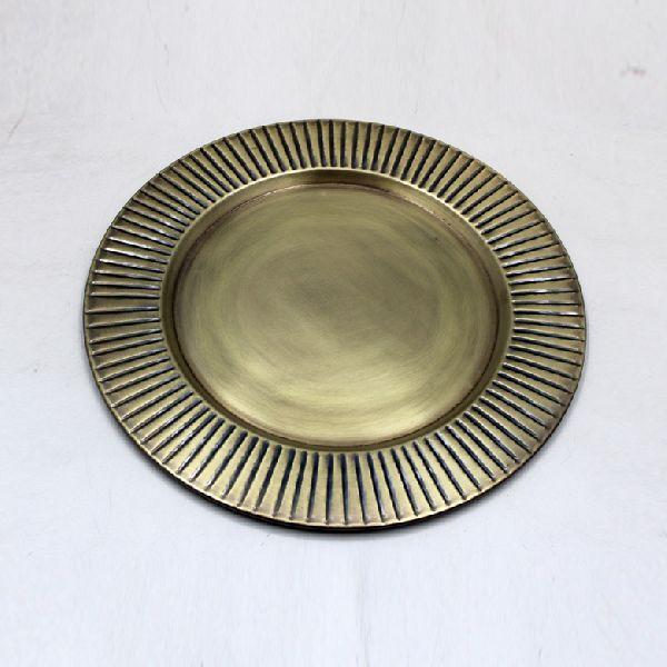 Brass Antique Iron Designer Round Plate