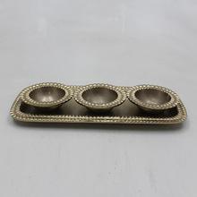 Brass Plated Aluminium Serving Rectangular Tray
