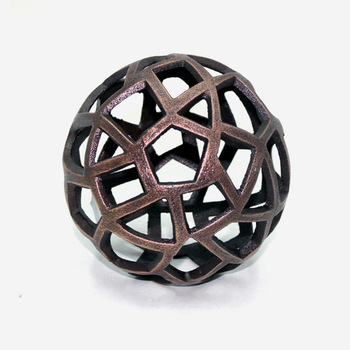 Bronze Aluminium Table Decorative Ball
