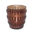 Brown Antique Glass Candle Votive