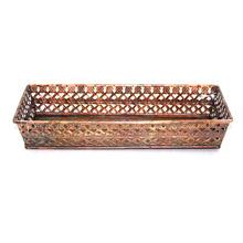 Copper Antique Rectangular Serving Tray